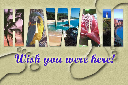 Hawaii postcard