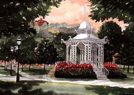 Gazebo in Washington Park, Dubuque, IA